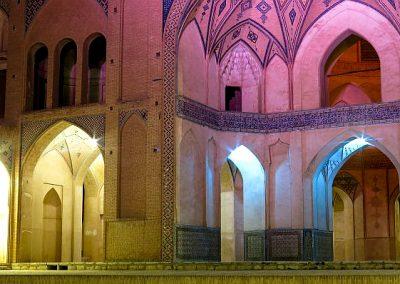 Iran Kashan Aqabozorg School and Mosque