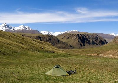 Kyrgyzstan is a paradise for camping