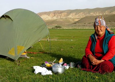 Kyrgyzstan this lady brought chai and sweets