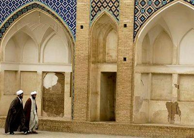 Mullahs Iran Kashan Aqabozorg School and Mosque