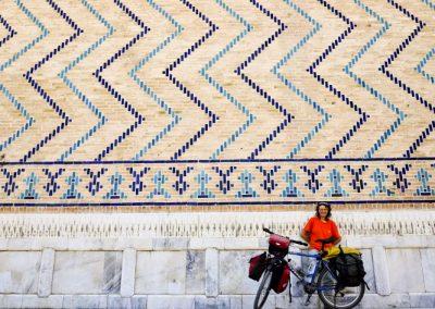 Uzbekistan Samarkand Mosque picture taken by photographer Megumi Okamoko