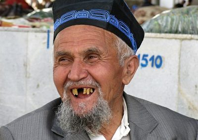 Uzbekistan Samarkand old man at the market