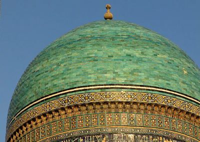 Uzbekistan the mosques are very colourful in Bukhara