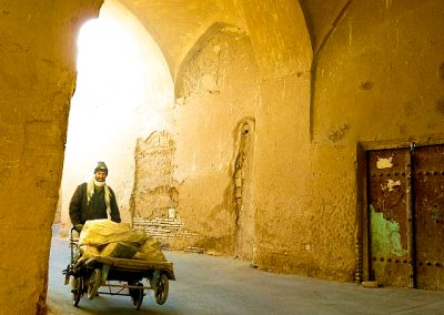 Yazd Iran lonely streets