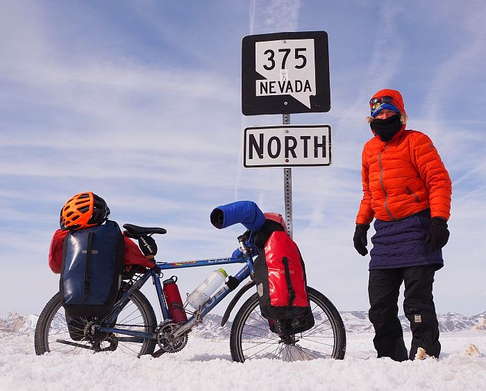 No.57 – USA – Nevada – Winter cycling in Never Never Land