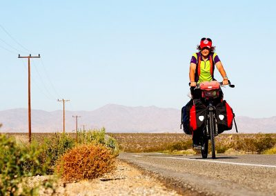 Cycling the desert of California USA