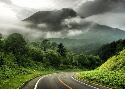 Hokkaido landscape Volcanoes