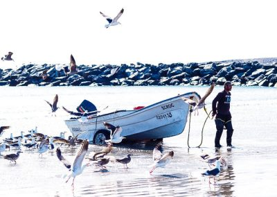 It is a lot of fun to watch the fishermen doing their work