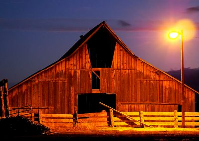 Old Barn by night