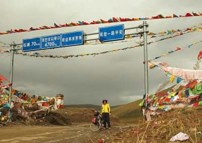 One of the highest passes in China