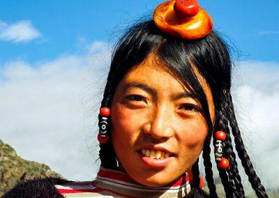 Pretty Tibetan lady