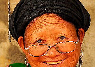 Vietnam, minorities, Portrait old lady