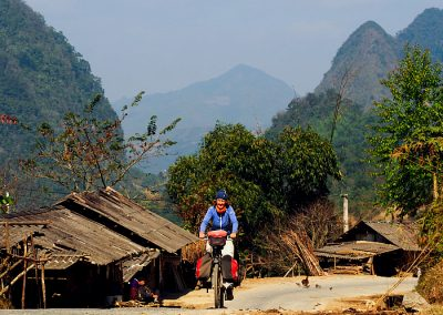 bike touring North Vietnam