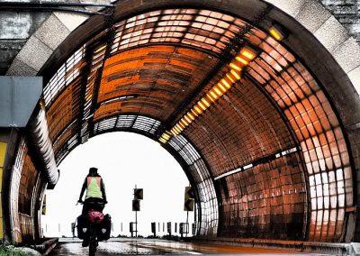 biking Tunnels Hokkaido Japan