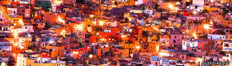71 Mexico Guanajuato at night from above