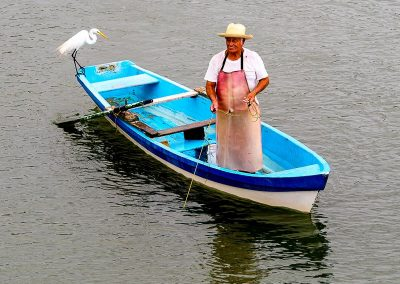 Mexico bike touring Veracruz fisherman